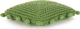vidaXL Poduszka podłogowa, kwadratowa, bawełna, 50x50 cm, zielona
