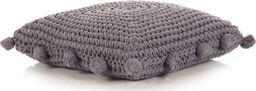 vidaXL Dziana poduszka podłogowa, kwadratowa, bawełna, 50x50 cm, szara