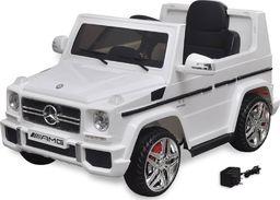 vidaXL Autko elektryczne biały Mercedes Benz G65 SUV 2 silniki, biały
