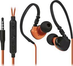 Słuchawki Defender Defender OutFit W770, słuchawki z mikrofonem, regulacja głośności, czarno-pomarańczowy, 2.0, douszne, 3.5 mm jack sport