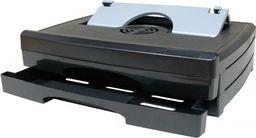 Stojak pod notebook, regulowany, z wentylatorem, czarno-srebrny, 2 szufladki
