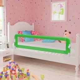 vidaXL Barierka ochronna do łóżka, 150 x 42 cm, zielona
