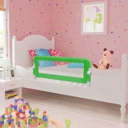 vidaXL Barierka ochronna do łóżka, 102 x 42 cm, zielona