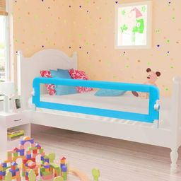 vidaXL Barierka ochronna do łóżka, 150 x 42 cm, niebieska