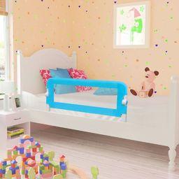 vidaXL Barierka ochronna do łóżka, 102 x 42 cm, niebieska