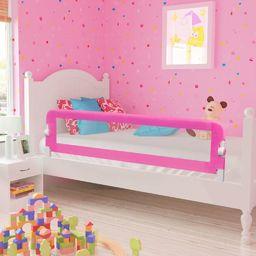 vidaXL Barierka ochronna do łóżka, 150 x 42 cm, różowa
