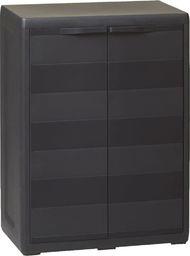 vidaXL szafa ogrodowa z 1 półką, czarna (43706)