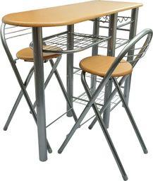 vidaXL Zestaw do baru lub kuchni, stół i krzesła, drewno
