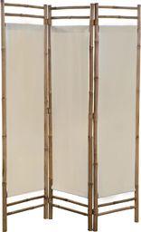 vidaXL 3-panelowy, składany parawan bambus i płótno, 120 cm