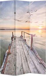 vidaXL Składany parawan, 120x170 cm, nadruk jeziora