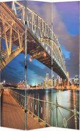 vidaXL Składany parawan, 120x170 cm, motyw Mostu Portowego w Sydney