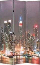vidaXL Składany parawan, 120 x 170 cm, wzór Nowy Jork nocą