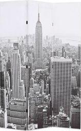 vidaXL Składany parawan, 120x170 cm, Nowy Jork za dnia, czarno-biały
