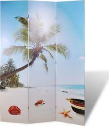 vidaXL Składany parawan, 120x170 cm, motyw plaży