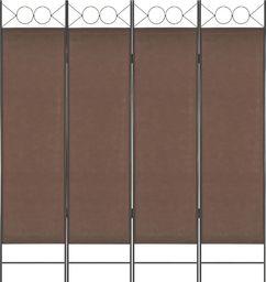 vidaXL Parawan 4-panelowy, brązowy, 160 x 180 cm