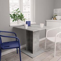 vidaXL Stół jadalniany, betonowy szary, 80 x 80 x 75 cm, płyta wiórowa