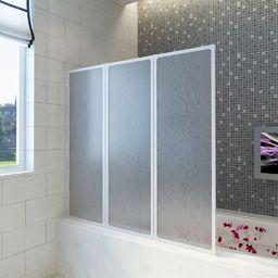 vidaXL Kabina prysznicowa ścienna, parawan 3 składane panele 141x132 cm