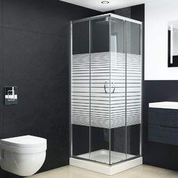 vidaXL Kabina prysznicowa, bezpieczne szkło, 80x70x185 cm