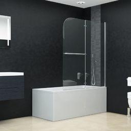 vidaXL Składana kabina prysznicowa, 2 panele, ESG, 95 x 140 cm