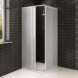 vidaXL Kabina prysznicowa ścienna, parawan (80 x 90 cm)