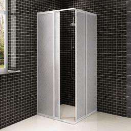 vidaXL Kabina prysznicowa ścienna, parawan (80 x 80 cm)