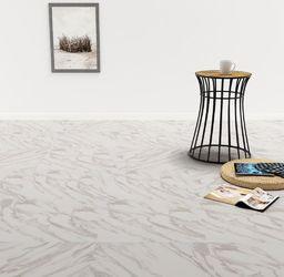 Egger Samoprzylepne panele podłogowe z PVC, 5,11 m, biały marmur