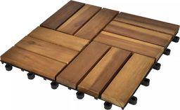 vidaXL Płytki tarasowe 30 x 30 cm z drewna akacji 20 w zestawie