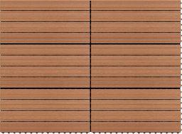 vidaXL Płytki tarasowe z WPC, 60x30 cm, 6 szt., 1 m, brązowe
