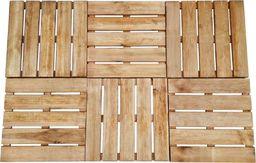vidaXL Płytki tarasowe, 6 szt., 50 x 50 cm, drewno FSC, brązowe