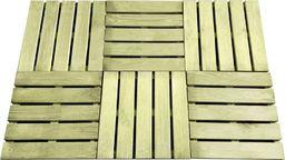vidaXL Płytki tarasowe, 6 szt., 50 x 50 cm, drewno FSC, zielone