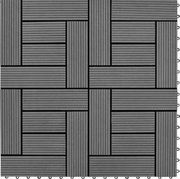 vidaXL Płytki tarasowe, 30x30 cm, WPC, 1 m, szare