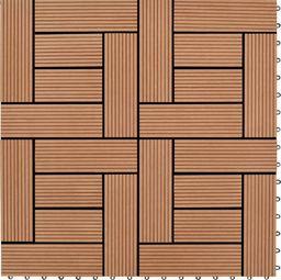 vidaXL Płytki tarasowe WPC (30 x 30 cm) kolor brązowy