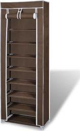 vidaXL Materiałowa szafka na buty z osłoną, 57 x 29 x 162 cm, brązowa