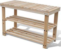 vidaXL Drewniany stojak na buty z ławką, 2-w-1