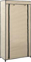 vidaXL Szafka na buty z osłoną, kremowa, 58x28x106 cm, tkanina