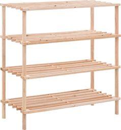 vidaXL Regał na buty z 4 półkami, lite drewno