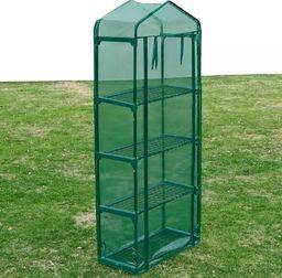 vidaXL Szklarnia ogrodowa z 4 półkami