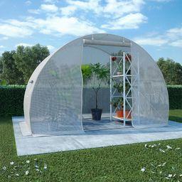 vidaXL Szklarnia ogrodowa, stalowa konstrukcja, 4,5 m, 300x150x200 cm