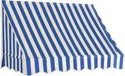 vidaXL Markiza bistro, 150 x 120 cm, niebiesko-biała