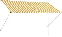 vidaXL Markiza zwijana, 250 x 150 cm, żółto-biała