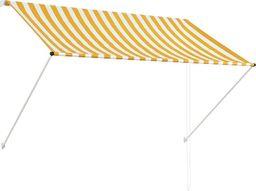 vidaXL Markiza zwijana, 200 x 150 cm, żółto-biała