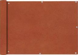 vidaXL Parawan balkonowy, tkanina oxford, 75x600 cm, terakota
