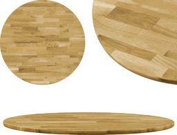 vidaXL Okrągły blat do stolika z litego drewna dębowego, 23 mm, 400 mm