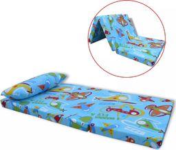 vidaXL Składany materac dziecięcy w samoloty