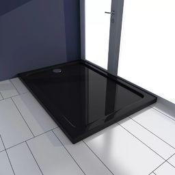 Brodzik vidaXL Brodzik prysznicowy prostokątny, ABS, czarny, 70 x 100 cm