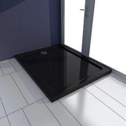 Brodzik vidaXL Brodzik prysznicowy prostokątny, ABS, czarny, 70 x 90 cm