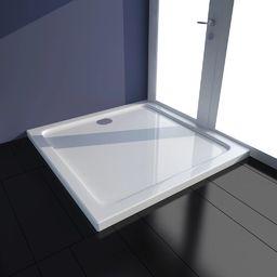 Brodzik vidaXL Brodzik prysznicowy kwadratowy, ABS, biały, 80 x 80 cm