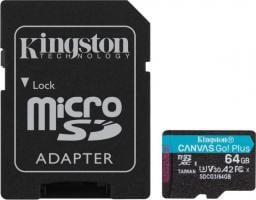 Karta Kingston MicroSDXC Canvas Go! Plus 64GB + adapter (SDCG3/64GB)