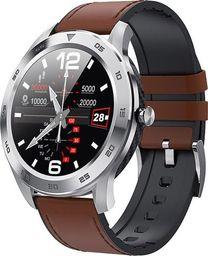 Smartwatch Garett Electronics GT22S Brązowy  (Garett GT22S jasny brąz, skórzany)