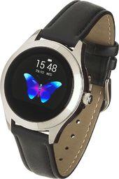 Smartwatch Garett Electronics Naomi Czarny  (Naomi czarny, skórzany)